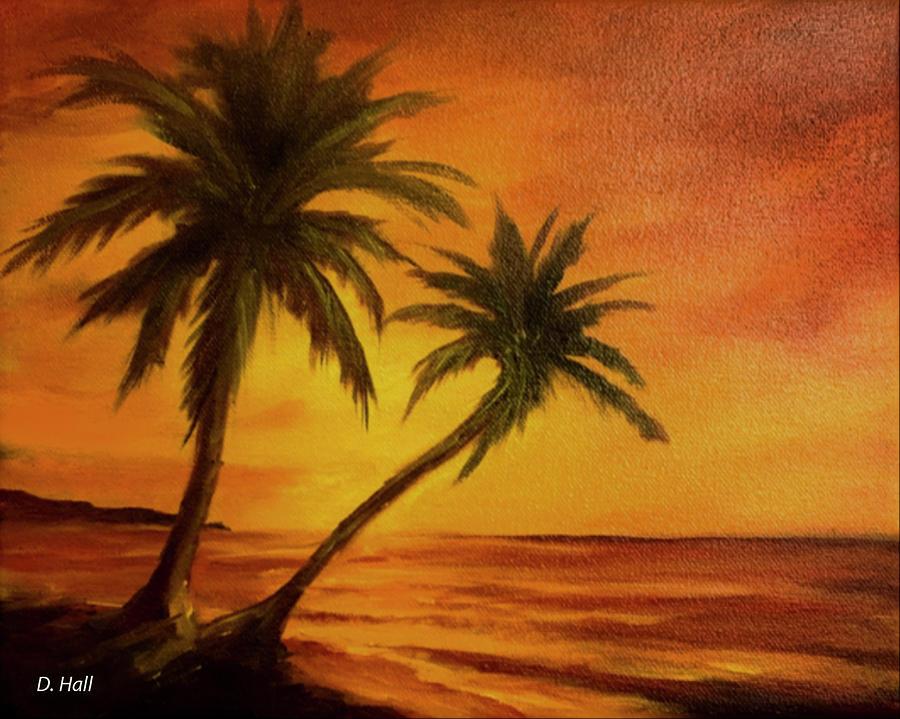 Hawaii Painting - Hawaiian Sunset #380 by Donald k Hall