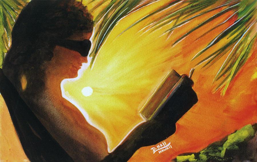 Hawaii Painting - Hawaiian Sunset Catching The Last Rays #132 by Donald k Hall