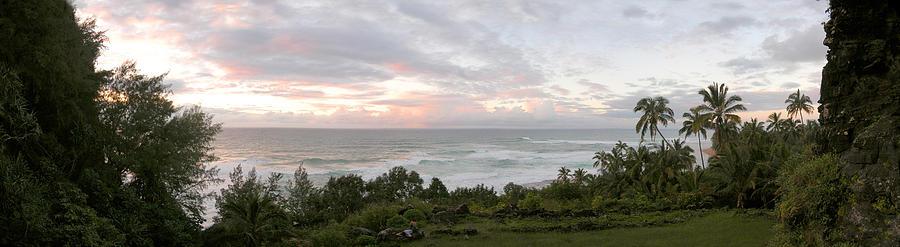 Hawaii Photograph - Hawaiian Sunset Panoramic Ocean Vista by Jeff Schomay