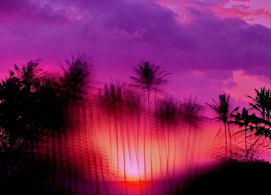 Sunset Photograph - Hawaiian Sunset by Phil Powers