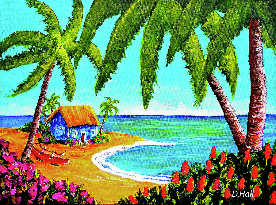 Painting Painting - Hawaiian Tropical Beach  #364 by Donald k Hall