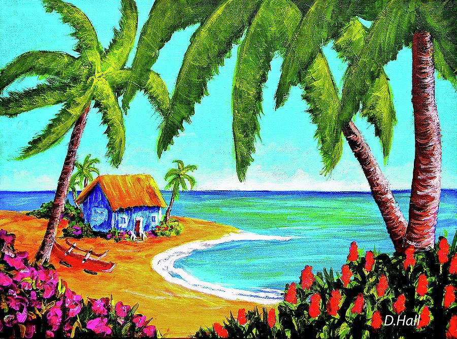 Painting Painting - Hawaiian Tropical Beach  #364 by Donald k Hall