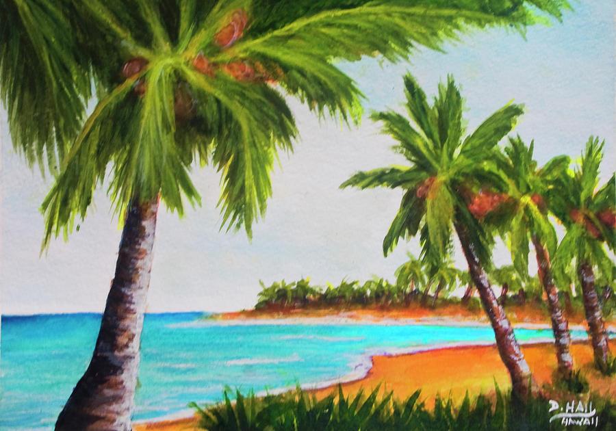 Hawaiian Painting - Hawaiian Tropical Beach #429 by Donald k Hall