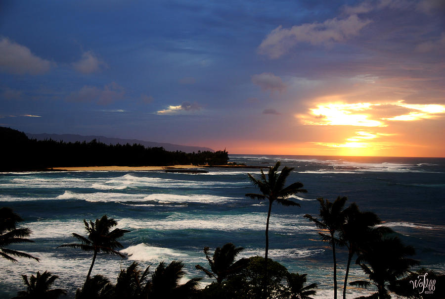 Seascape Photograph - Hawaiin Sunset by Thea Wolff