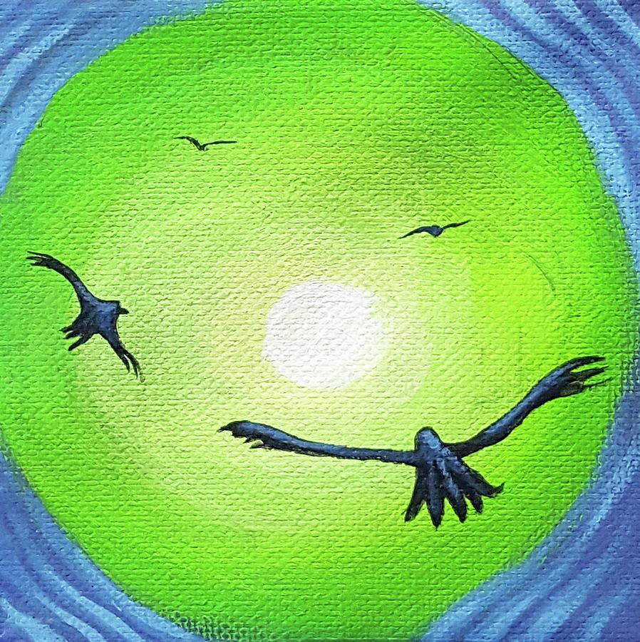 Jj Painting - Hawk Glow 1 by JJ Long
