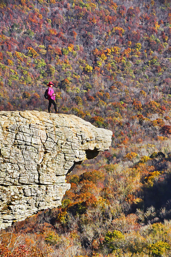 Paintings Photograph - Hawksbill Crag In Autumn by Dennis Cox WorldViews