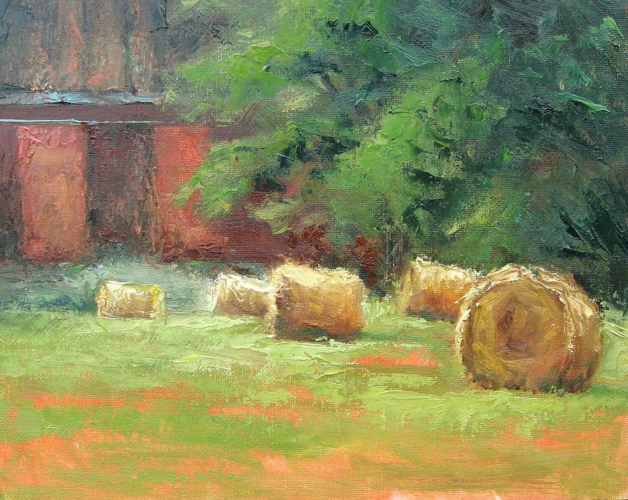 Hay Bales Painting - Hay Bales by Sharon Weaver