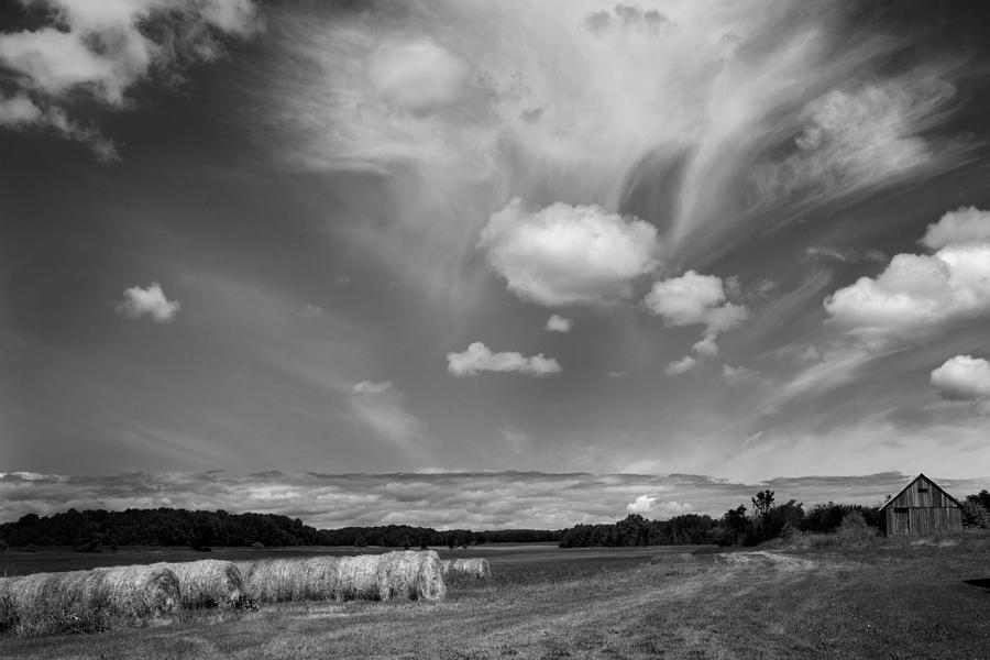 Door County Photograph - Hay Field And Barn Clarks Lake Road by Stephen Mack