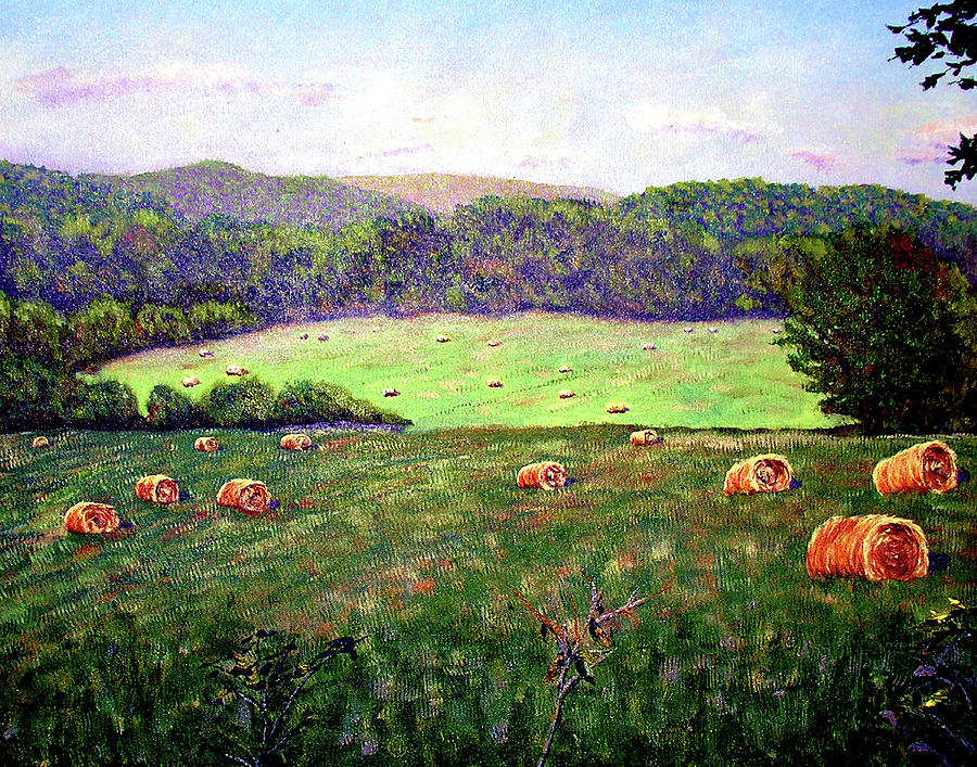 Trees Painting - Hay Field by Stan Hamilton