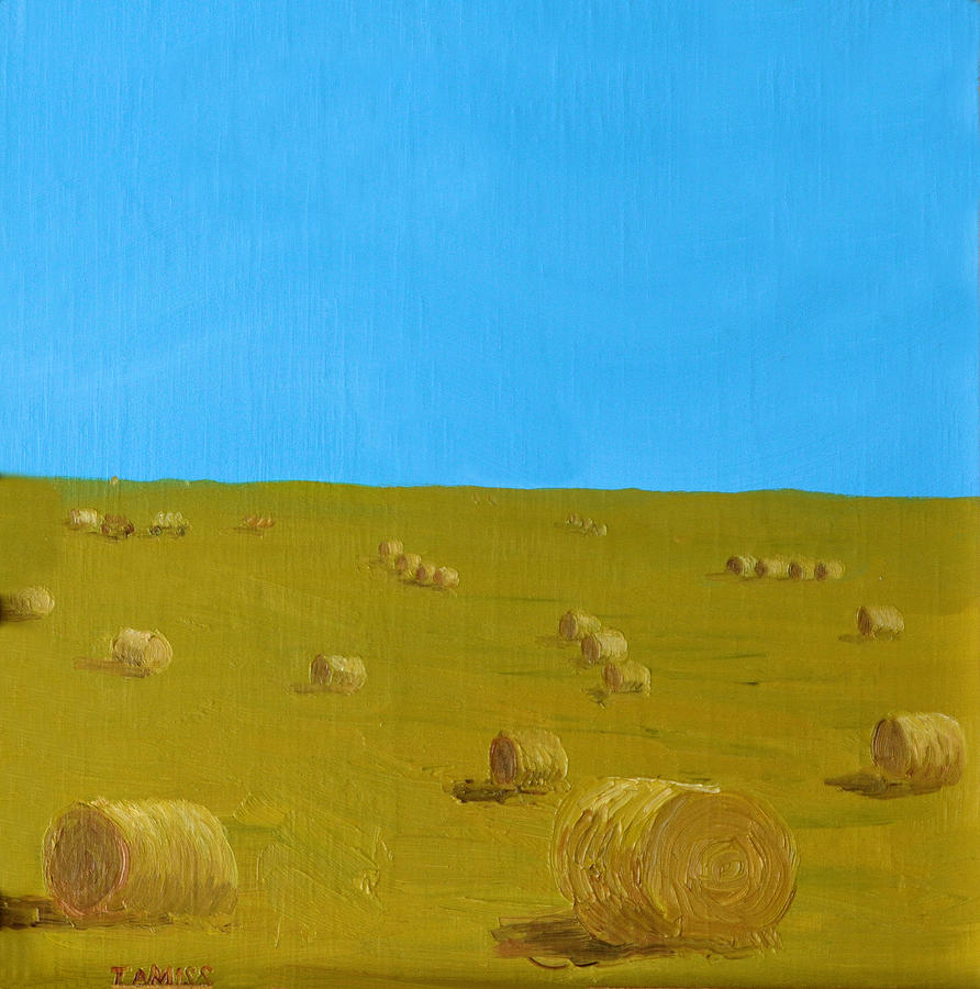 Landscapes Painting - Hay Harvest by Tom Amiss