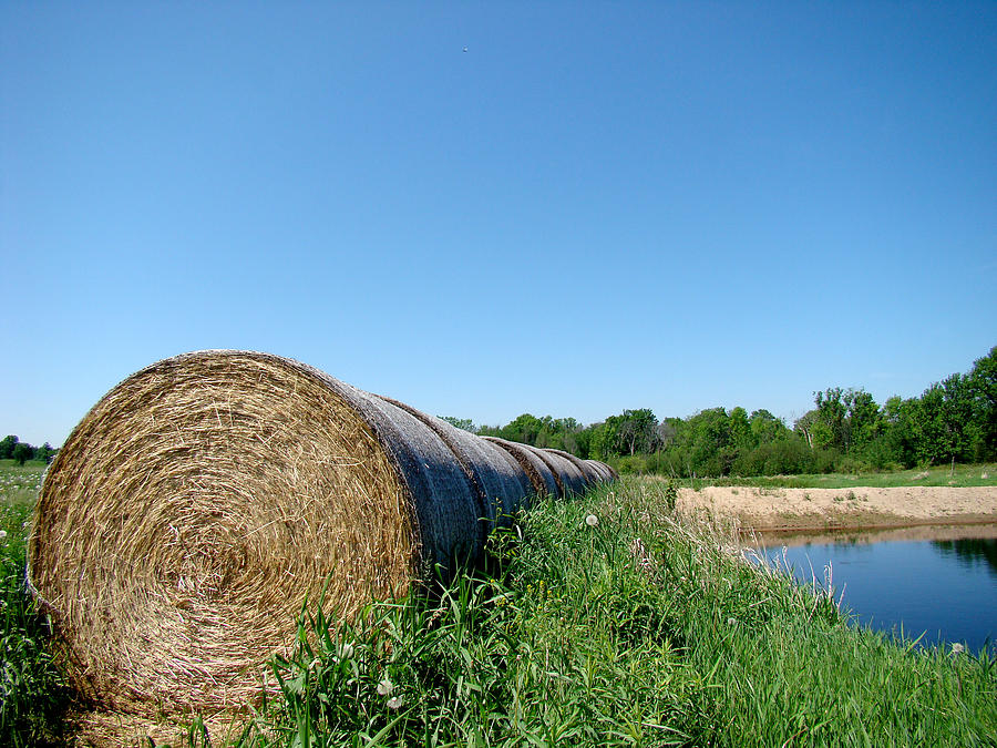 Landscape Photograph - Hay Roll by Todd Zabel