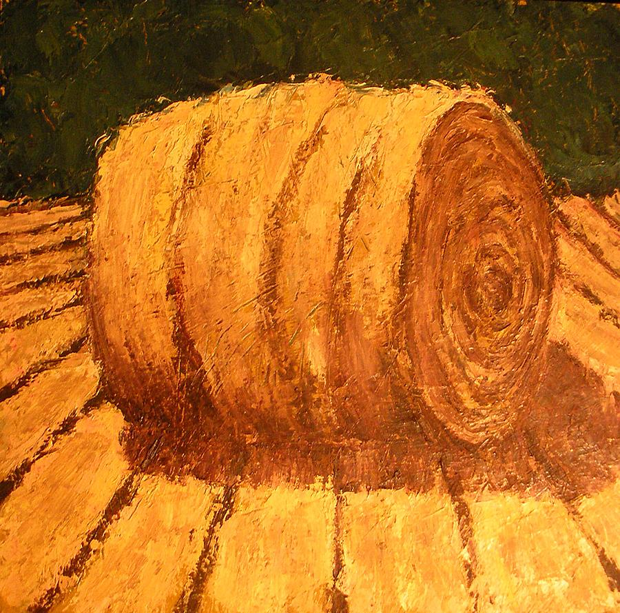 Art Sale Painting - Haybale by Jaylynn Johnson