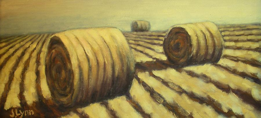 Art Sale Painting - Haybales by Jaylynn Johnson
