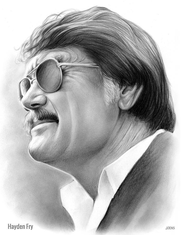 Hayden Fry Drawing