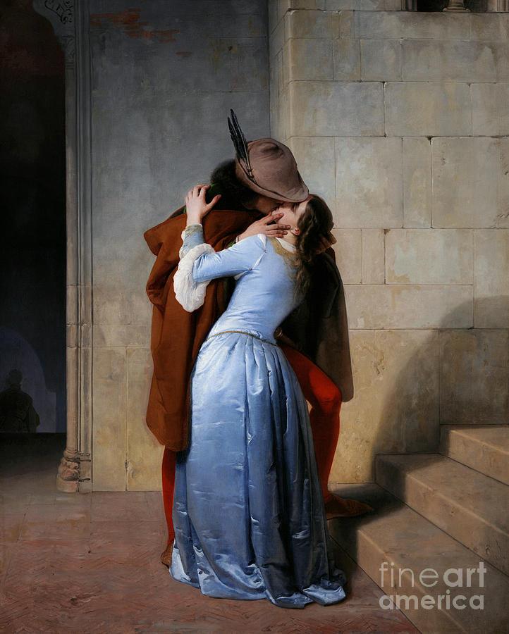 19th Century Photograph - Hayez: The Kiss by Granger