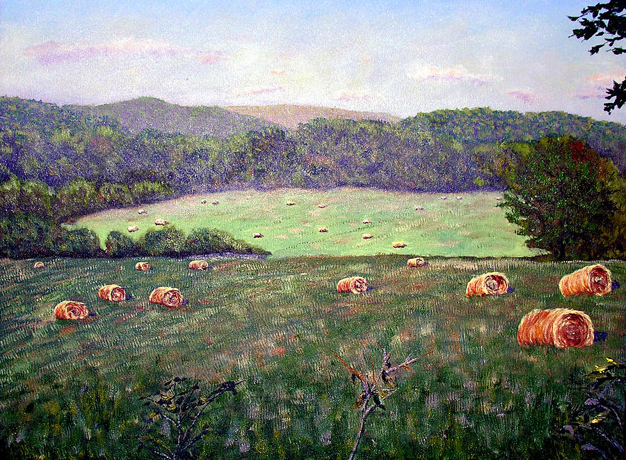 Hayfield Painting - Hayfield  by Stan Hamilton