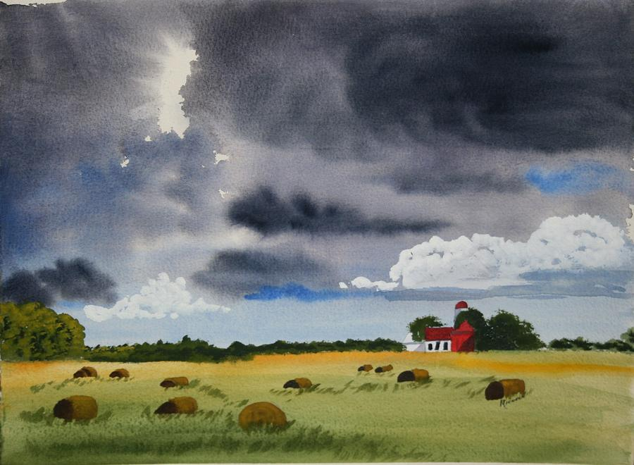Fields Painting - Haying Time by Michele Turney