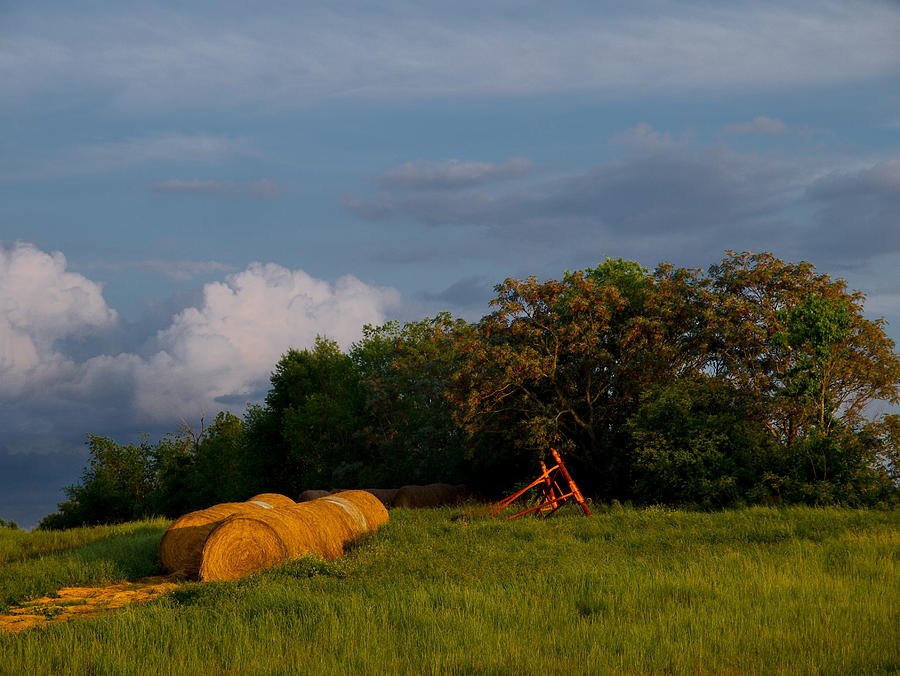 Hay Photograph - Haymaker Clouds by Laura Ragland