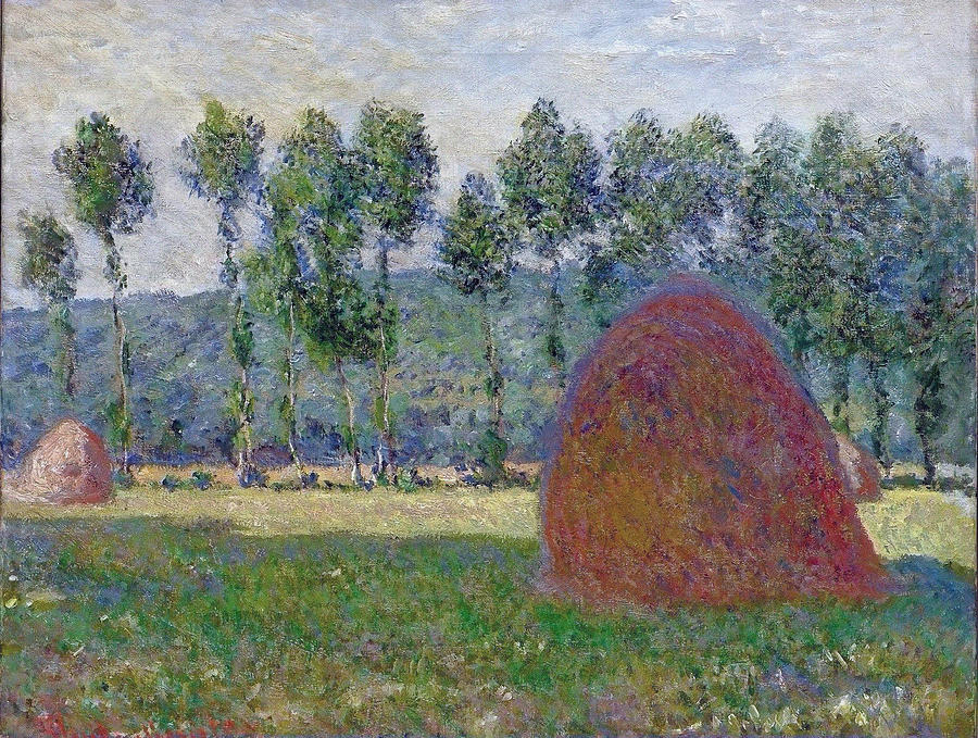 Agriculture Painting - Haystack At Giverny, 1885 by Claude Monet