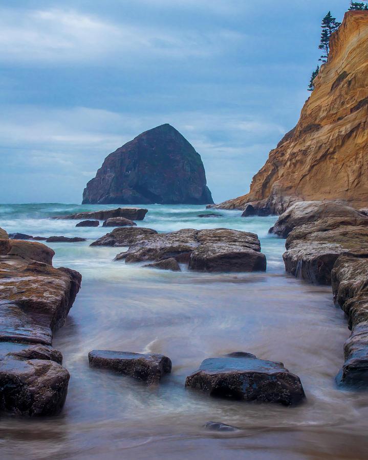 Haystack Rock in Color by Jedediah Hohf
