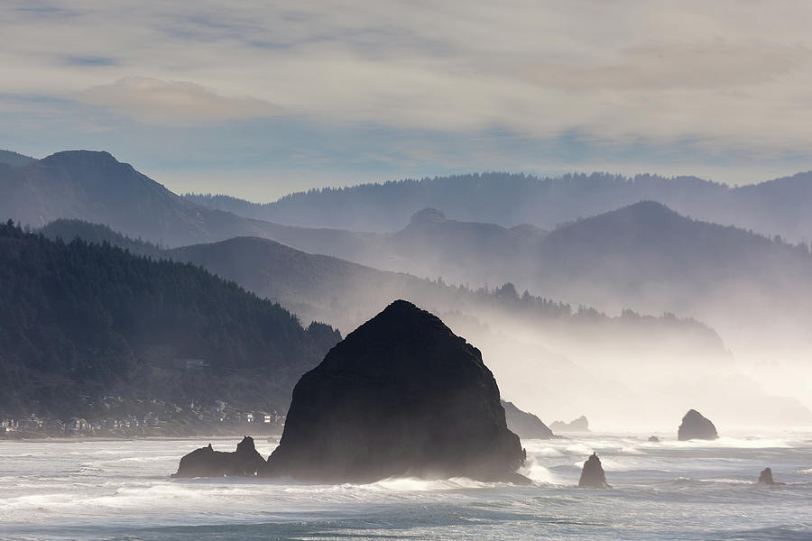 Cannon Beach Photograph - Haystack Rock on the Oregon Coast in Cannon Beach by David Gn