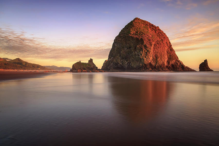 Haystack Rock Sunset by Adam Romanowicz