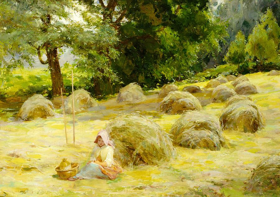 Haytime Painting - Haytime by Rosa Appleton