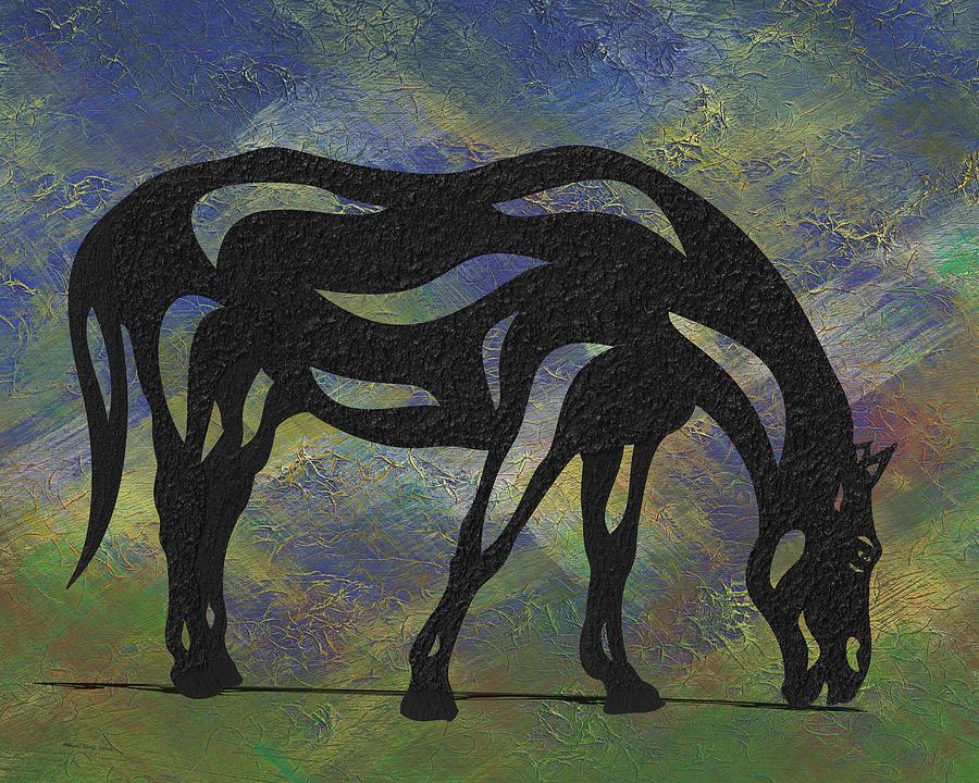 Hazel - Abstract Horse by Manuel Sueess