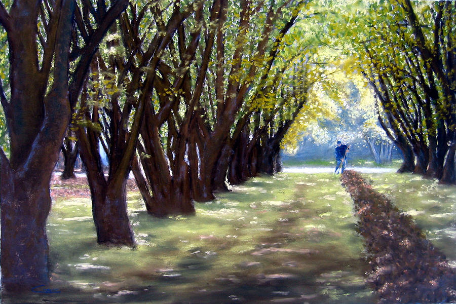Orchard Painting - Hazel Green by Carl Capps