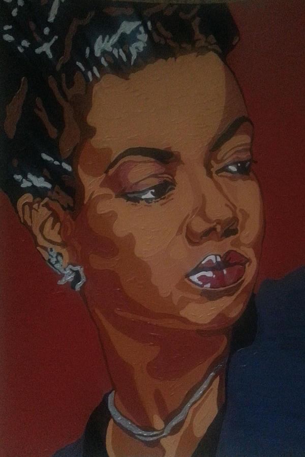Hazel Scott Painting - Hazel Scott by Rachel Natalie Rawlins