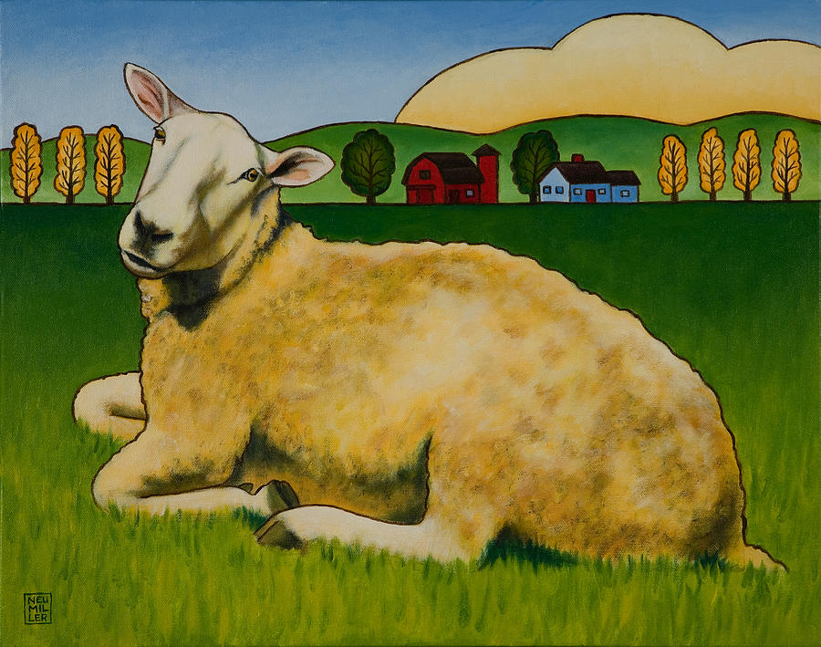 Sheep Painting - Hazel by Stacey Neumiller