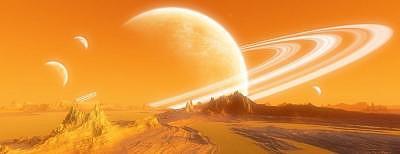 Planets Digital Art - Hazy Day On Annovia V2.0 by Graham Conrad