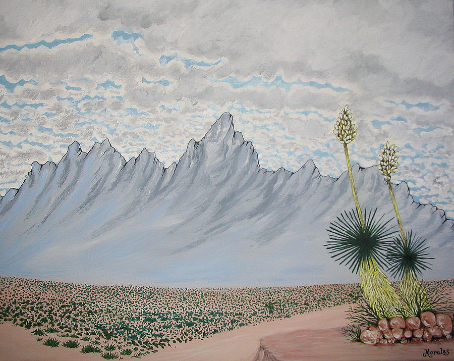 Desertscape Painting - Hazy Desert Day by Marco Morales