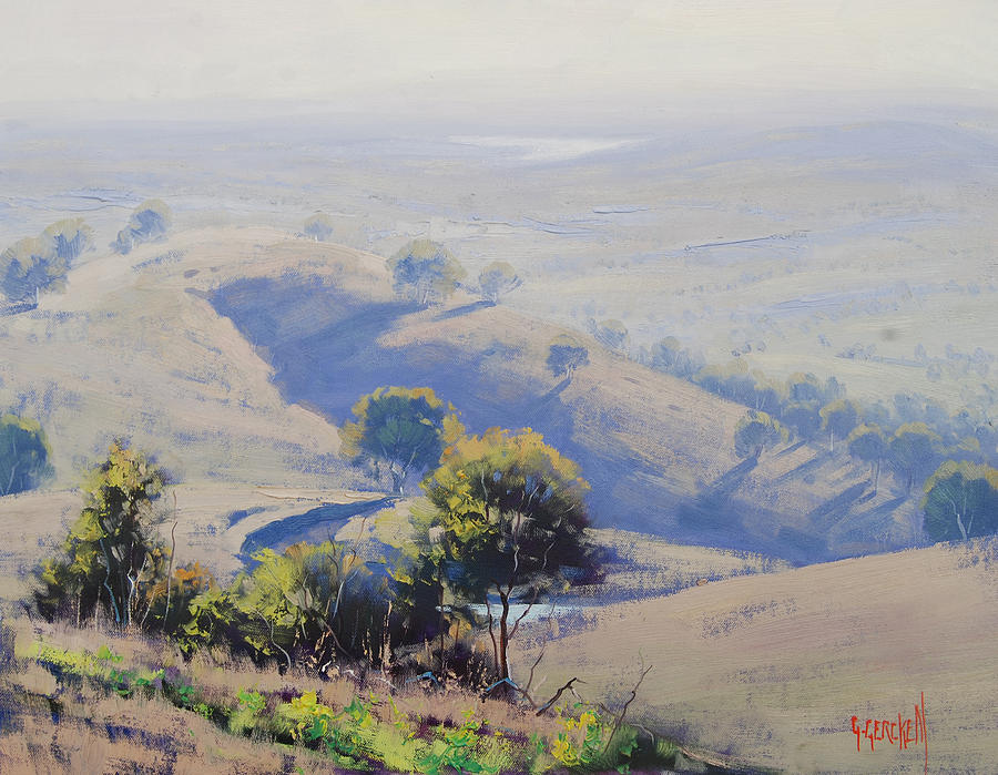 Central Tablelands Painting - Hazy Morning Lake Windamere by Graham Gercken