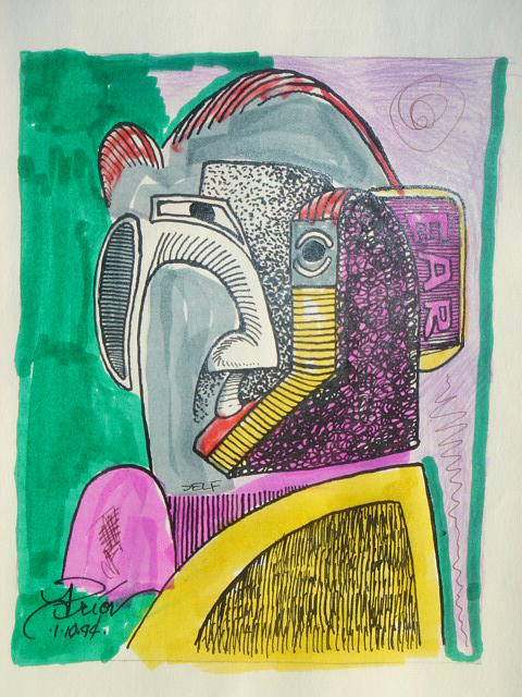 He 2   Sold Mixed Media by Houston Prior