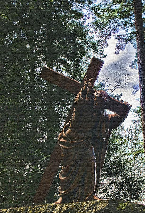 Jesus Photograph - He Did This For You by John Winner