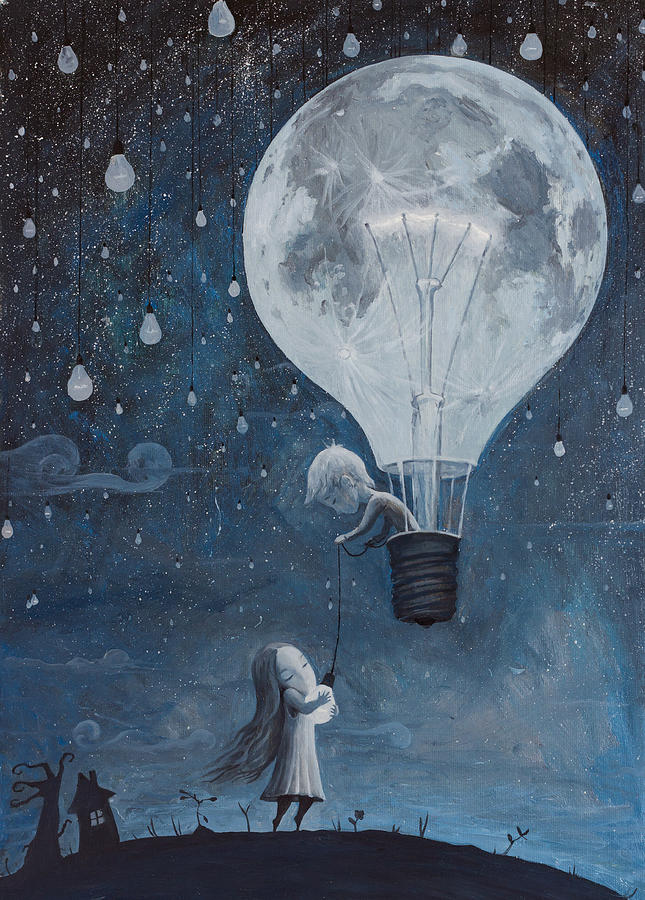 Dream Painting - He Gave Me The Brightest Star by Adrian Borda