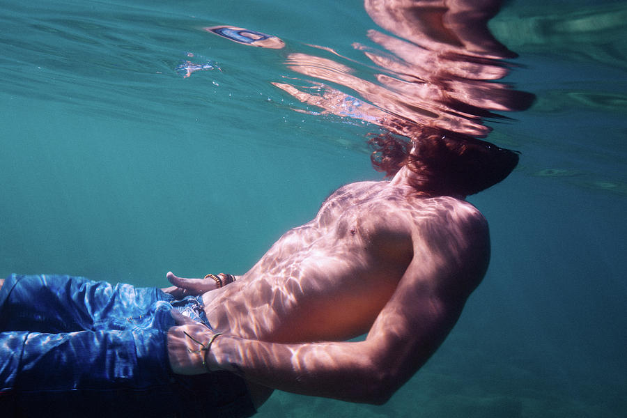 Swim Photograph - He by Gemma Silvestre