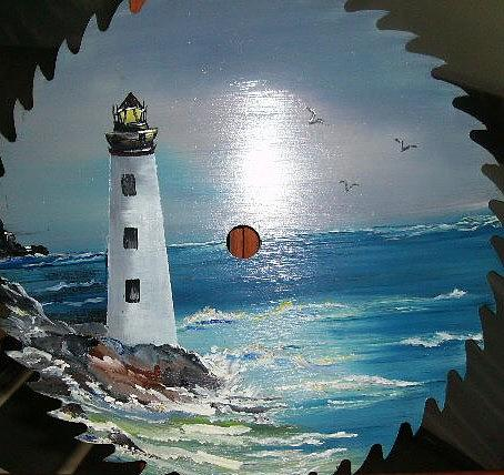 Lighthouse Painting - He Lights The Way by Terry Lash