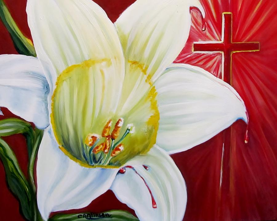 Easter Painting - He Lives by Carol Allen Anfinsen