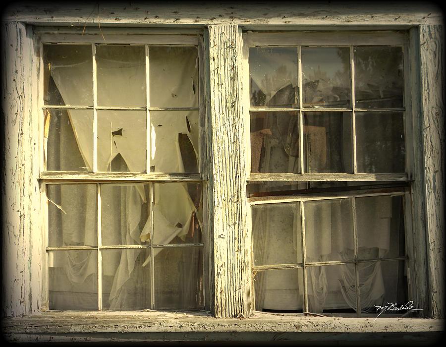 Window Photograph - He Lives Here by Melissa Wyatt