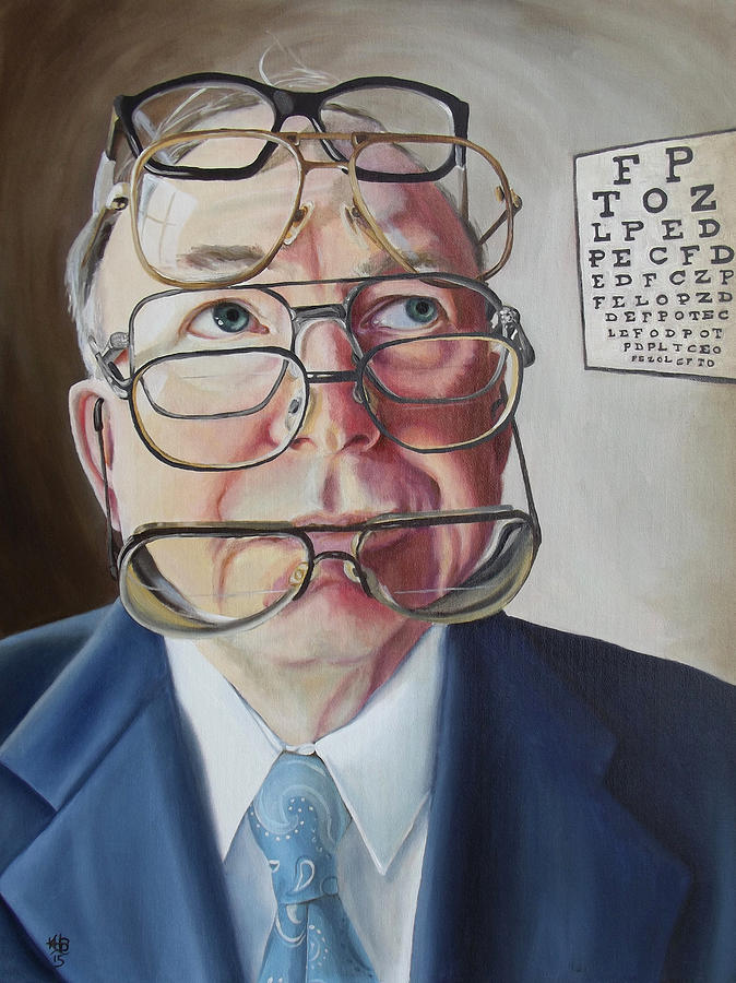 Eye Doctor Painting - He Lost His Focus After Retirement by Kirsten Beitler