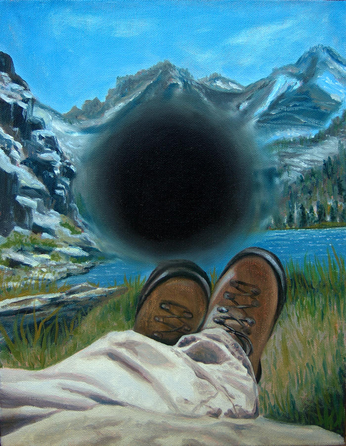 Macular Degeneration Painting - He Lost His Perspective by Kirsten Beitler