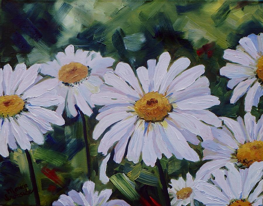 Flowers Painting - He Loves Me, He Loves Me Not by Monica Ironside
