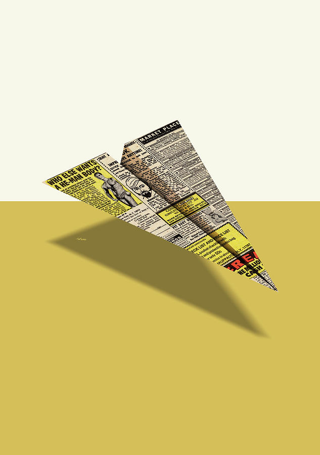 2d4946a88038 Advertising Digital Art - He-man Body Comic Book Ad Paper Airplane by  YoPedro