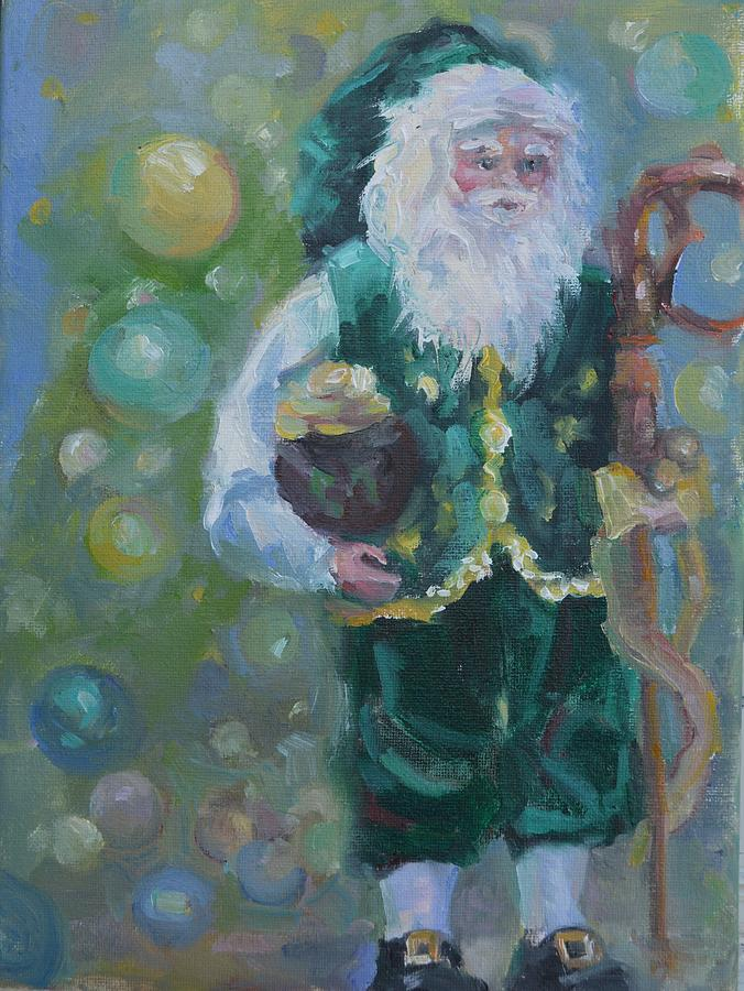 Christmas Painting - He Sees You....... by Patricia Maguire