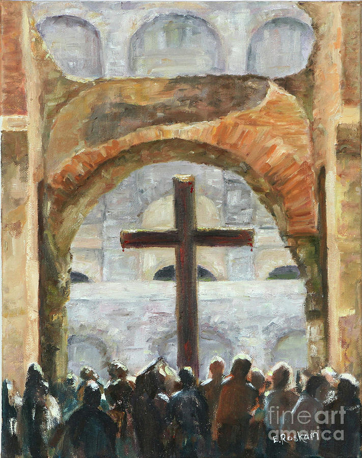 Jesus Painting - He shed His Blood by Elizabeth Roskam