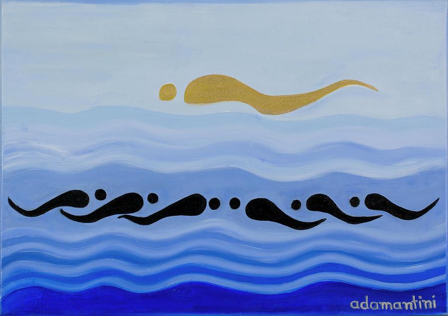 Feng Shui Painting - He Tu Water by Adamantini