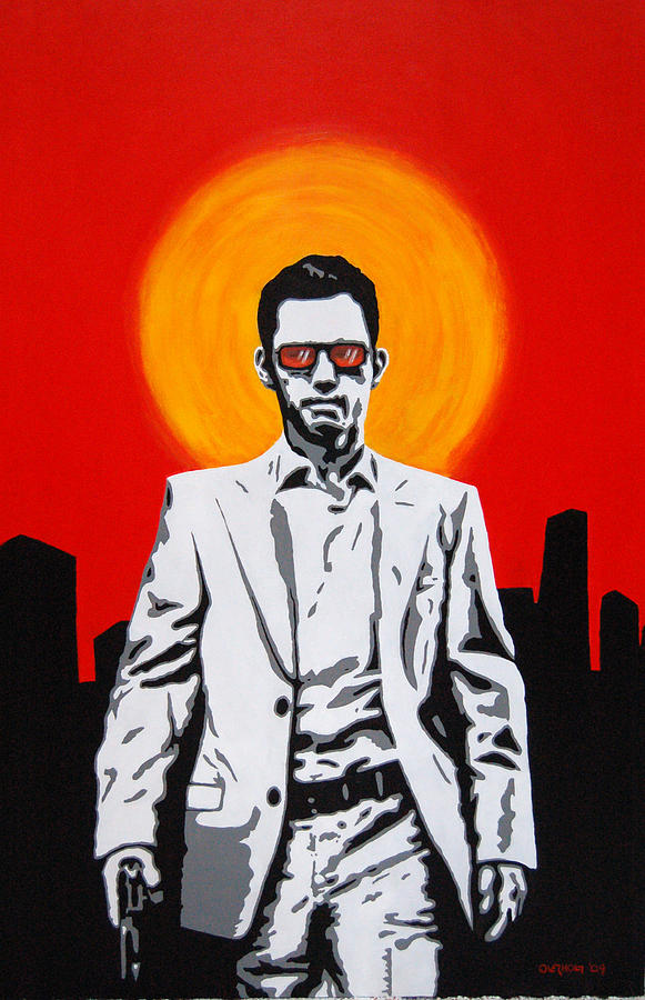 Burn Notice Painting - He Used To Be A Spy by Justin Overholt