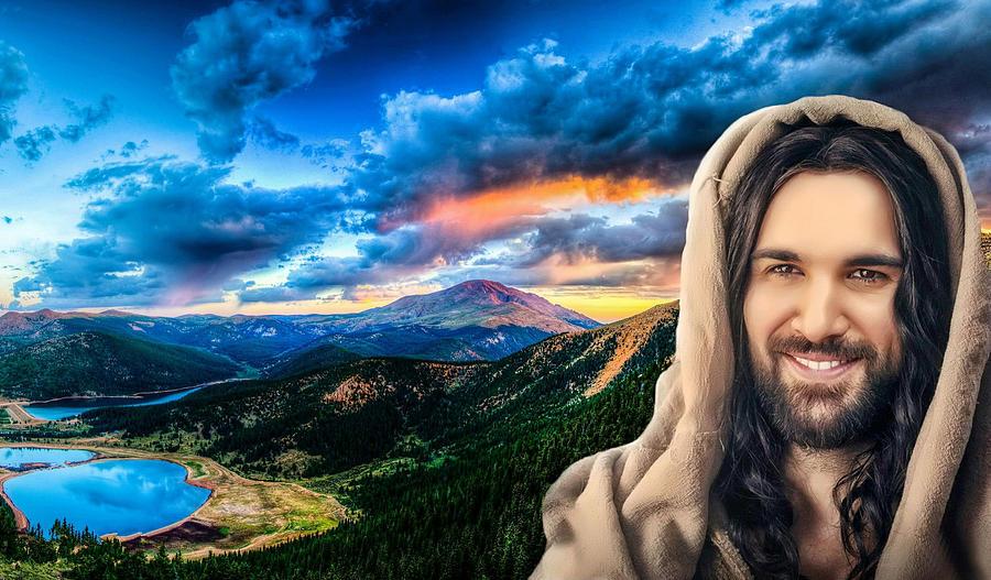 Christian Digital Art - He Watches Over Me by Karen Showell